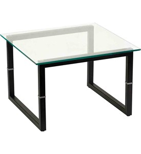 Square Frame Glass End Table by Flash Furniture Image