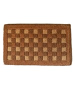 Square Pattern Coir Doormat by Imports Decor