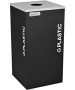 Square Recycling Container - Plastic