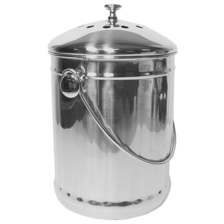 Stainless Steel Kitchen Compost Pail In Compost Pails