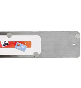 Magnetic Strip Bulletin Board - Stainless Steel Image