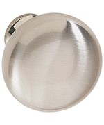 Round Cabinet Knob - Brushed Stainless Steel