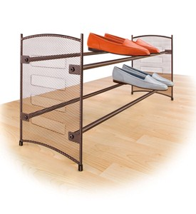 Stackable Expanding Shoe Rack - Bronze Image