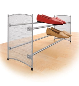 Stackable Expanding Shoe Rack - Platinum Image