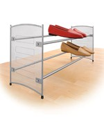 Stackable Expanding Shoe Rack - Platinum