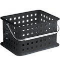Stackable Plastic Storage Basket - Black