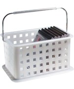 Stackable Plastic Storage Basket - Clear Frost