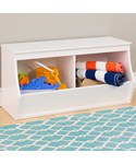 Stackable Storage Cubby - Two Bin - Monterey