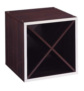 Stackable Storage Cubes - Cube with Diagonal Dividers - 15 Inch Image