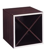 Stackable Storage Cubes - Cube with Diagonal Dividers - 15 Inch