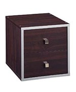 Stackable Storage Cubes - Cube with Two Drawers - 15 Inch