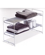 Stackable Storage Rack - Silver