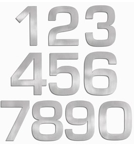 Brushed Stainless Steel House Numbers Image
