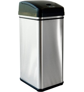 Stainless Steel Automatic Trash Can Image