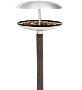 Stainless Steel Bird Feeder and Bath Image