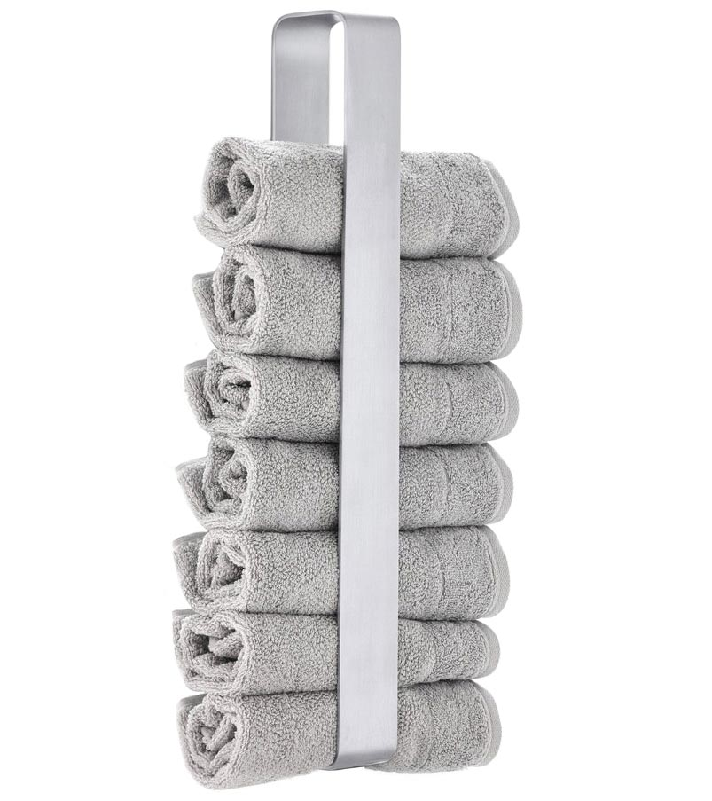 Stainless Steel Hand Towel Holder In Wall Towel Racks
