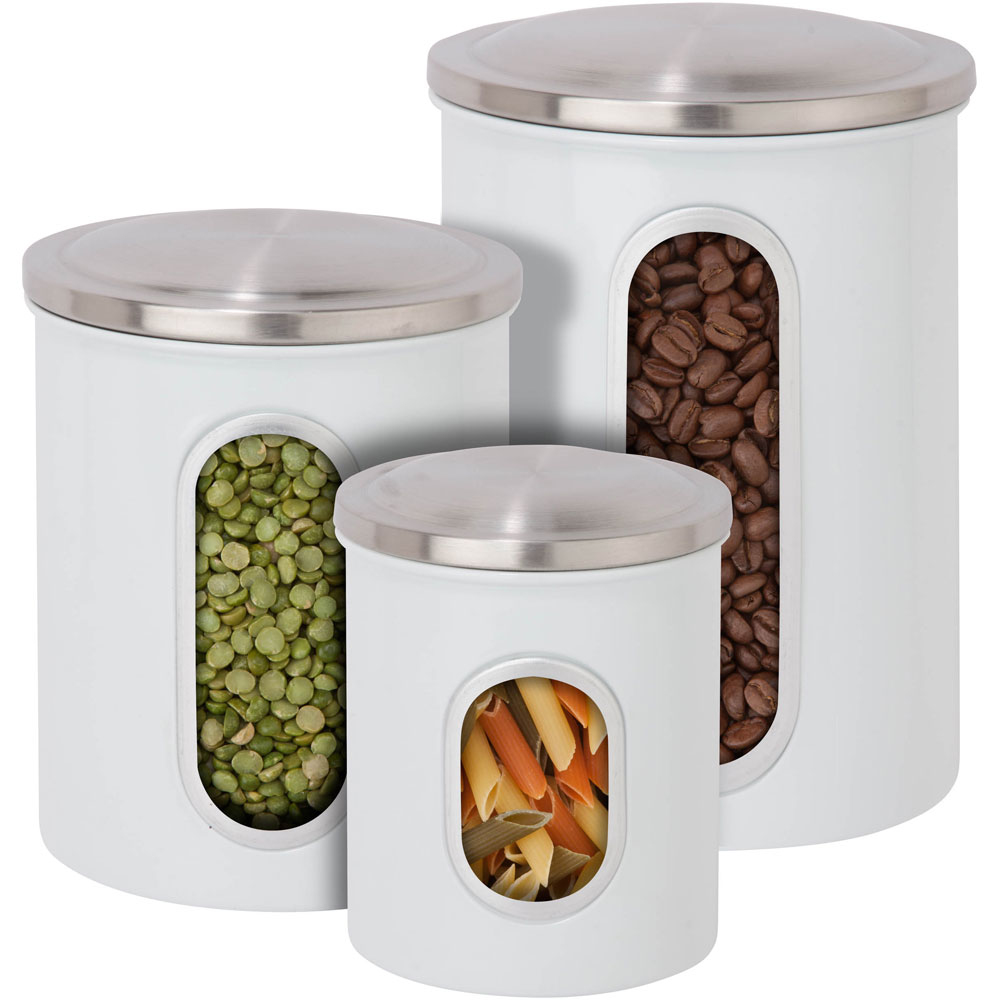 stainless steel kitchen canisters set of 3 in kitchen stainless steel canisters decoist