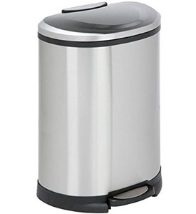 Stainless Steel Oval Trash Can Image