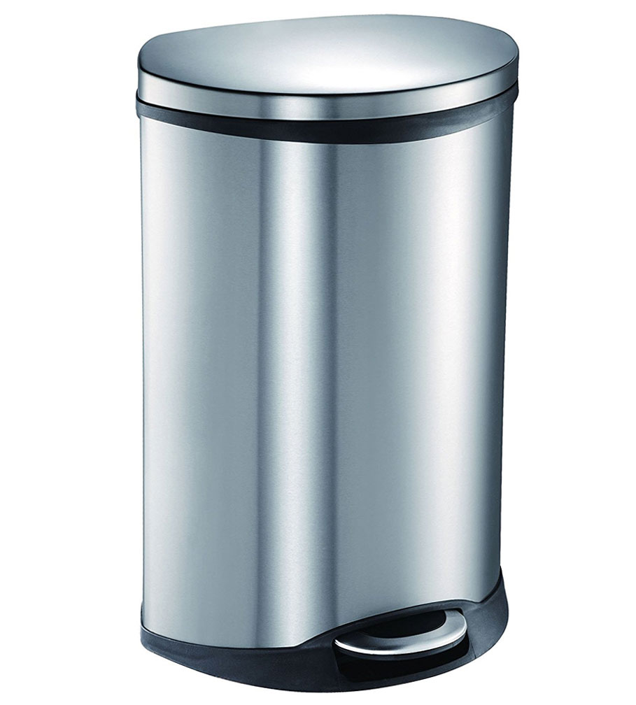 50l Stainless Steel Pedal Trash Can In Stainless Steel Trash Cans