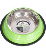 Stainless Steel Pet Bowl - Green Stripe