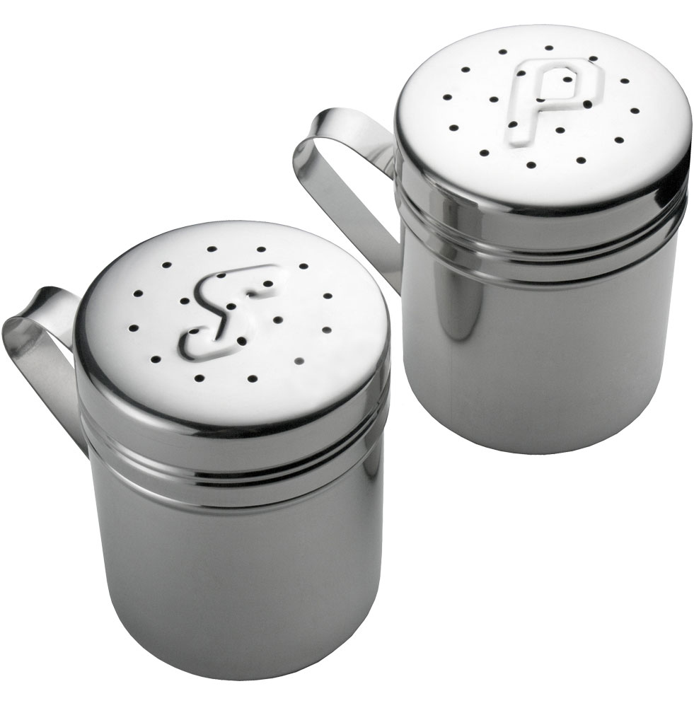 stainless steel salt and pepper shakers in spice containers. Black Bedroom Furniture Sets. Home Design Ideas