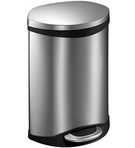 Step Trash Bin - Stainless Steel 6L Image