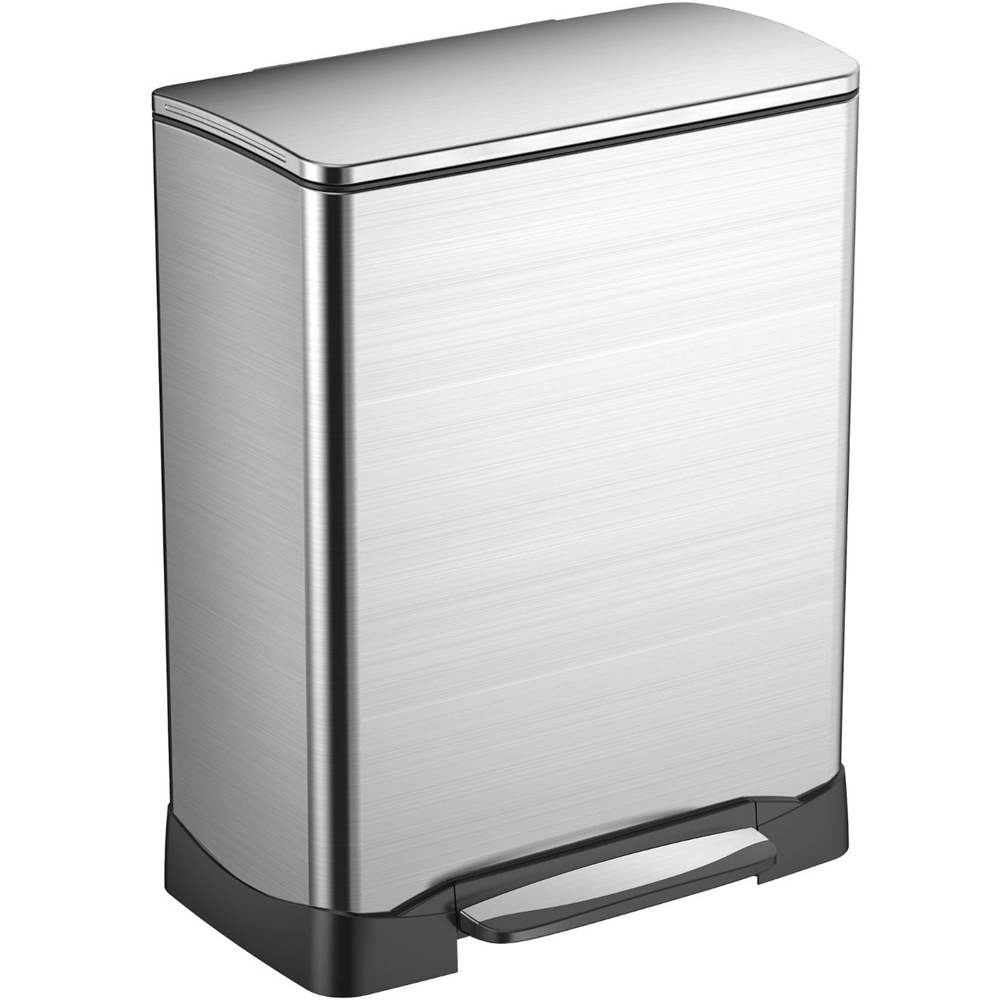 Stainless steel rectangular trash can in stainless steel trash cans - Rectangular garbage cans ...
