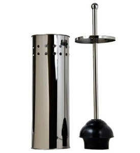 Stainless Steel Toilet Plunger with Canister Image