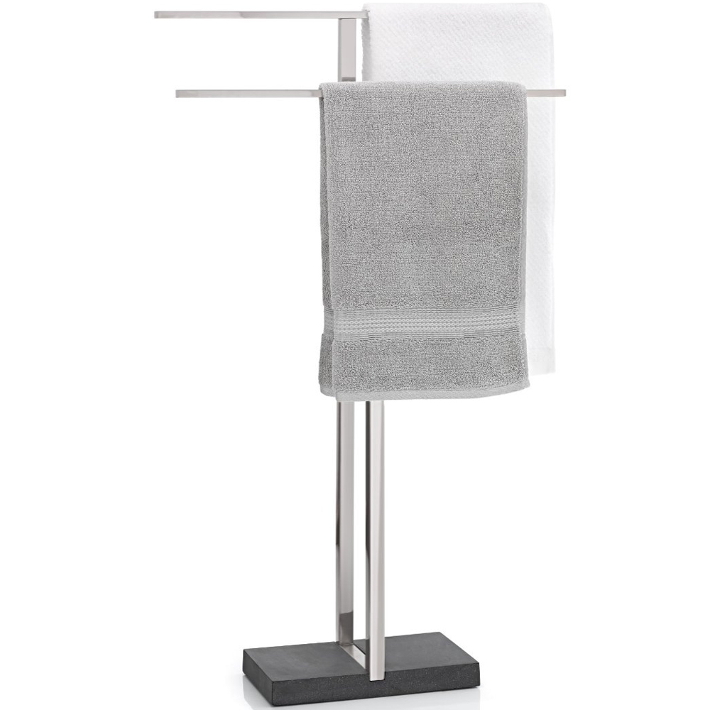 Stainless steel towel rack in free standing towel racks for Bathroom towel racks