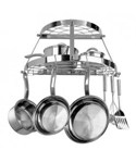 Stainless Steel Two Shelf Pot Rack - Wall Mounted