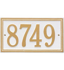 Standard Wall Address Plaque - One-Line Image