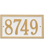 Standard Wall Address Plaque - One-Line