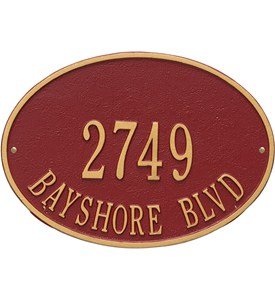 Hawthorne Standard Wall Address Plaque Image