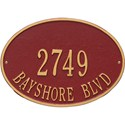 Hawthorne Standard Wall Address Plaque