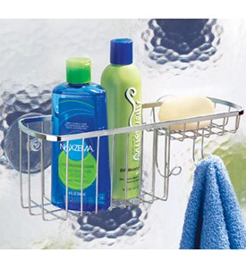 Stainless Steel Suction Shower Basket Image