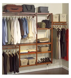 Standard Wood Closet System - Red Mahogany Image