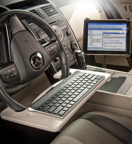 Steering Wheel Desk Tablet Mount In Auto Exec Mobile Office