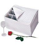 Quilted Vinyl Stemware Chest