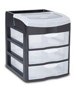 Sterilite 3 Drawer Desktop Unit