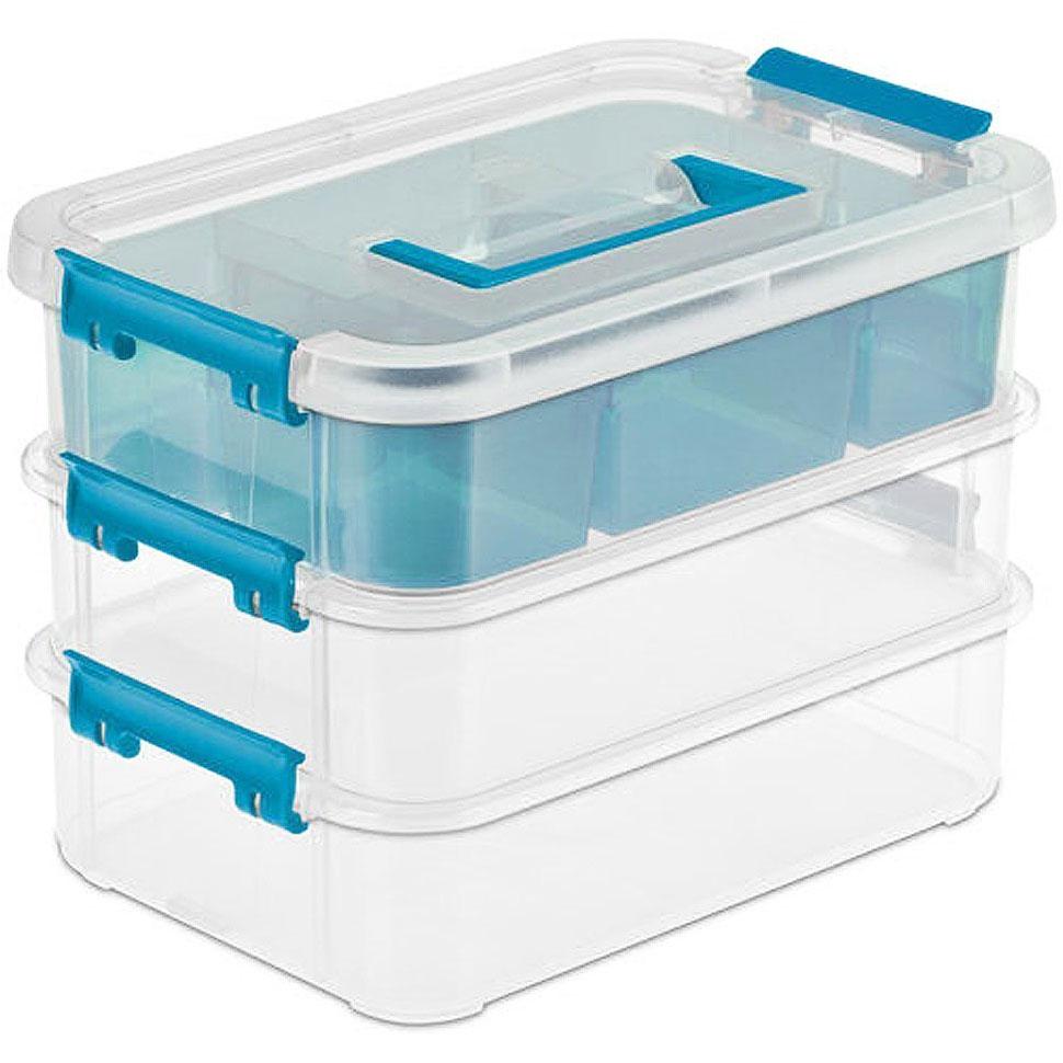 Sterilite Latch Boxes In Plastic Storage Boxes
