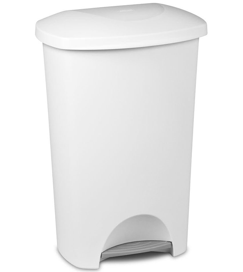 Kitchen Garbage Can Sterilite Step On Trash Can 11 Gallon In Kitchen Trash Cans