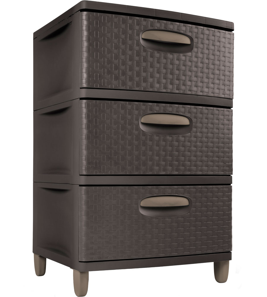 Sterilite Three Drawer Storage Chest In Storage Drawers