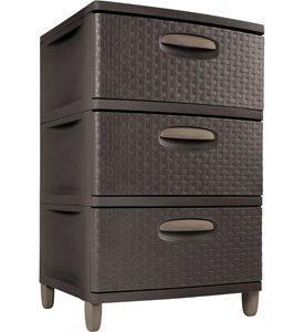 Sterilite Three Drawer Storage Chest Image
