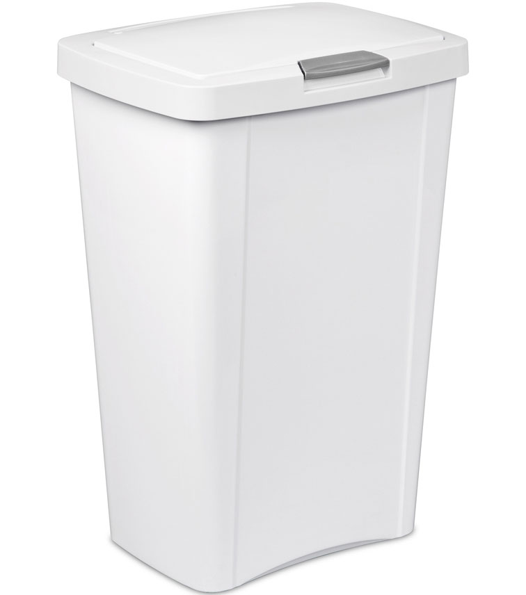 Sterilite touch top trash can in kitchen trash cans Kitchen garbage cans