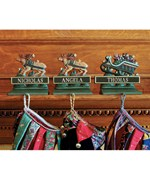 Holiday Stocking Hangers - Sleigh and Reindeer