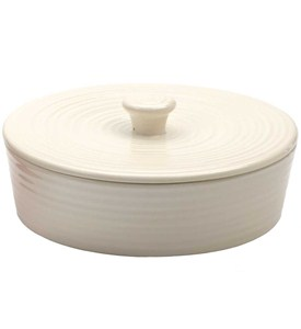 Stoneware Tortilla Warmer - Off White Image