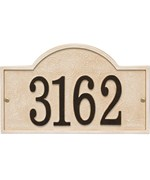 Stonework House Number Plaque