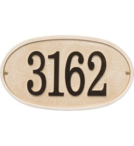 Stonework Wall Address Plaque Image