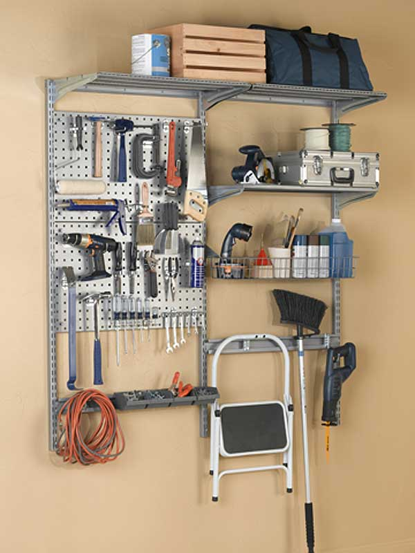 shelving system garage wall storage system and tool organizer