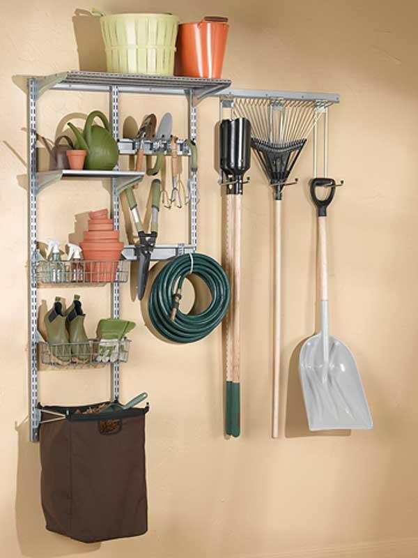 Garden Tool Organizer Wall System In Garden Tool Storage